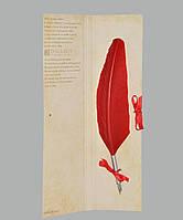 Перо гусиное для каллиграфии Dallaiti Piu04 красное