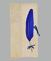 Перо гусиное для каллиграфии Dallaiti Piu04 синее