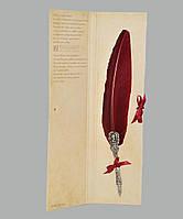 Перо гусиное для каллиграфии Dallaiti Piu05 бордо