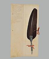 Перо гусиное для каллиграфии Dallaiti Piu05 коричневый