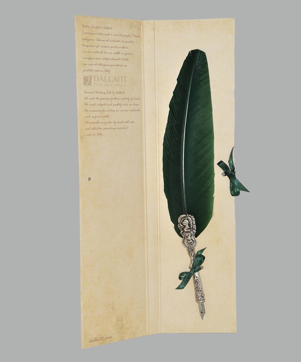 Перо гусиное для каллиграфии Dallaiti Piu05 зеленый