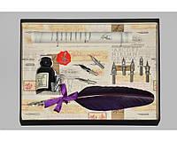 Набор письменный для каллиграфии La Kaligrafica 530 (8 перьев) фиолетовый