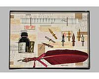 Набор письменный для каллиграфии La Kaligrafica 530 (8 перьев) бордо
