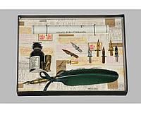 Набор письменный для каллиграфии La Kaligrafica 530 (8 перьев) зеленый