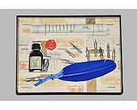 Набор письменный для каллиграфии La Kaligrafica 530 (8 перьев) синий
