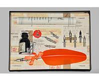 Набор письменный для каллиграфии La Kaligrafica 530 (8 перьев) оранж