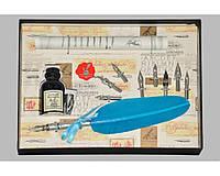 Набор письменный для каллиграфии La Kaligrafica 530 (8 перьев) бирюзовый