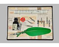 Набор письменный для каллиграфии La Kaligrafica 530 (8 перьев) светло-зеленый