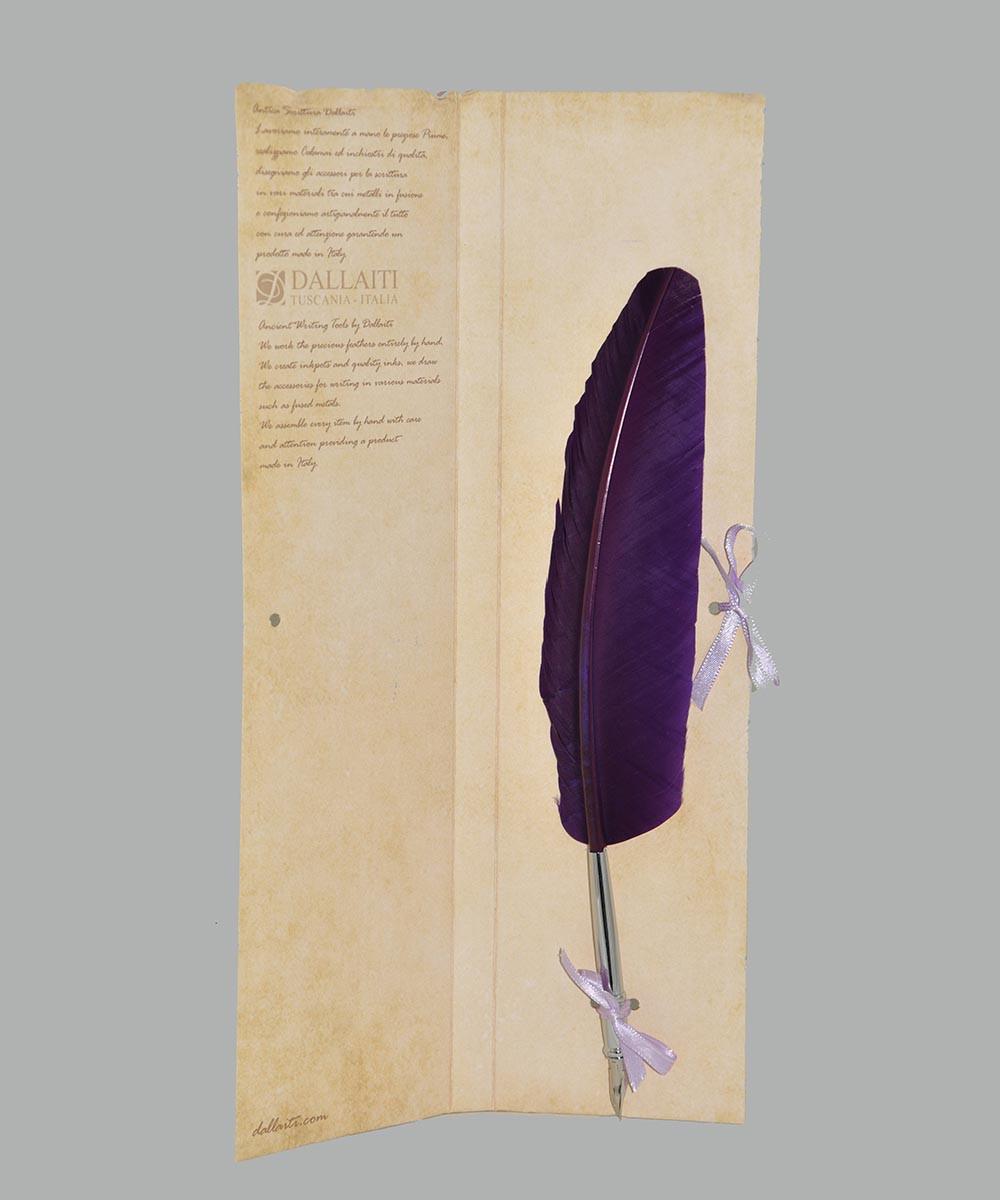 Перо гусяче для каліграфії Dallaiti Piu04 фіолетове