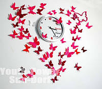 Бабочки 3D на стены декор 12шт