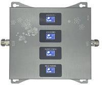 Четырехдиапазонный репитер усилитель SST-2070-LGDW 2G/3G/4G (850/900/1800/2100 МГц) c дисплеем, 500-600 кв. м.