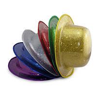 Шляпа Котелок Пластик Блестящая