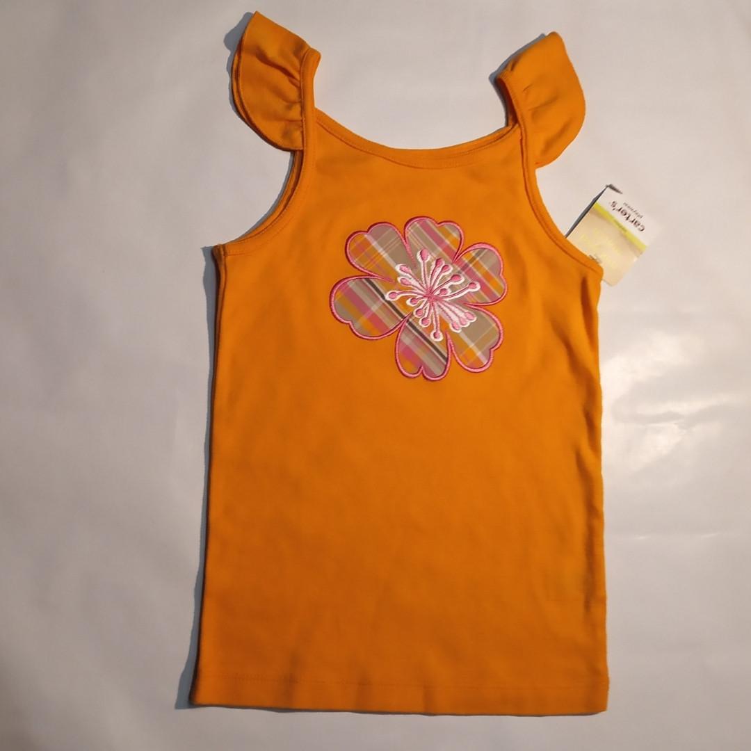 Футболка-майка оранжевая Carters р.5лет