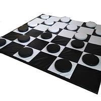 Напольная детская развивающая тематическая игра на мате с мягкими модулями для квартиры, детского сада Шашки