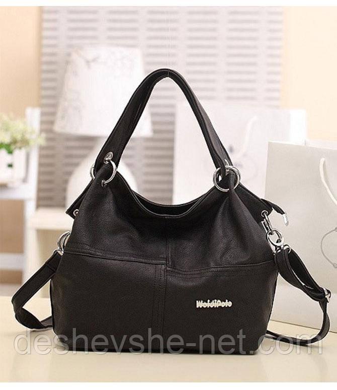 Стильная женская сумка WEIDIPOLO Черная