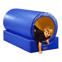Мягкий игровой спортивный модульный тренажер из 2-х элементов для активного отдыха детей от 1 года Тоннель