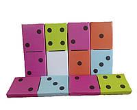 Мягкий крупногабаритный дидактический игровой набор из 6 матов для детей от 1 года для квартиры Домино цветное