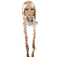 Парик Две Косы 100 см (блонд)