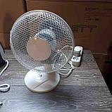 Настольный вентилятор Q Connect 230-мм / 9-дюймовый 2-скоростной, фото 2