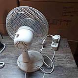 Настольный вентилятор Q Connect 230-мм / 9-дюймовый 2-скоростной, фото 3