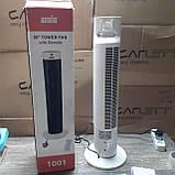 3-швидкісний осцилювальний вентилятор ANSIO Tower Fan 30-дюймовий з пультом дистанційного керування для будинку, фото 4