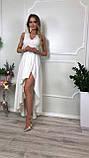 Платье купить Лиана ассиметрия вечернее выпускное коктельное длинное шлейф гипюр плаття 42 44 46 48 50 Р, фото 3