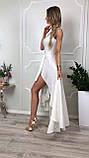 Сукню купити Ліана асиметрія вечірній випускний коктельное довгий шлейф гіпюр плаття 42 44 46 48 50 Р, фото 4