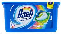 Капсулы для стирки цветных вещей Dash 3-в-1 Color, 39 шт.
