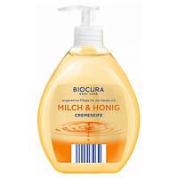 Мило рідке Biocura Молоко-мед, 500 мл