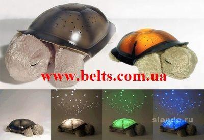 Светильник звездное небо музыкальная черепаха с USB шнуром, Music turtle lamp