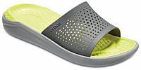 Шлёпанцы летние Crocs LiteRide Slide серые, фото 1