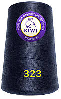 Нить 20/2 армированная Темно синяя 323тон повышенной прочности 3000ярдов Kiwi