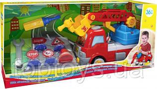 Конструктор BeBeLino Пожежна машина з дорожніми знаками (58013)