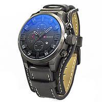 Часы CURREN 8225 Black для мужчин с двойным механизмом кварцевые влагозащищенный корпус нержавеющая сталь