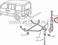 Направляющий кронштейн запасного колеса  Doblo 2000-2011 46754343