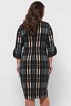 Повседневное платье Джулия клетка бирюза Размеры 54,56, фото 2