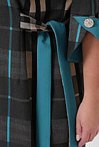 Повседневное платье Джулия клетка бирюза Размеры 54,56, фото 3