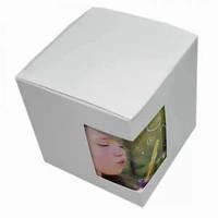 Картонная упаковка для кружек и чашек белого цвета