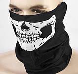 Бафф с черепом белым универсальная защитная, фото 3