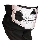 Бафф с черепом белым универсальная защитная, фото 4