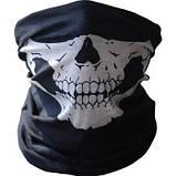 Бафф с черепом белым универсальная защитная, фото 6