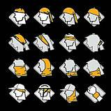 Бафф с черепом белым универсальная защитная, фото 8