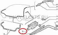 Мотор заднего стеклоочистителя крышки багажника Doblo(ляда) 51757281