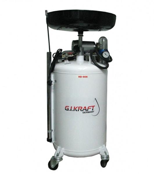 Установка для слива и откачки масла с пневмонасосом (80л.) G.I.Kraft HD-806