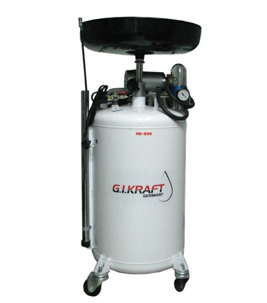 Установка для зливу і відкачування масла з пневмонасосом (80л.) G. I. Kraft HD-806