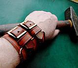 Кожаные  браслеты с надписью, фото 3