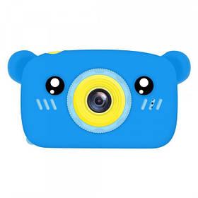 Детский цифровой фотоаппарат Smart Kids Camera 3 Series 20MP Full HD 1080P (Blue Bear)