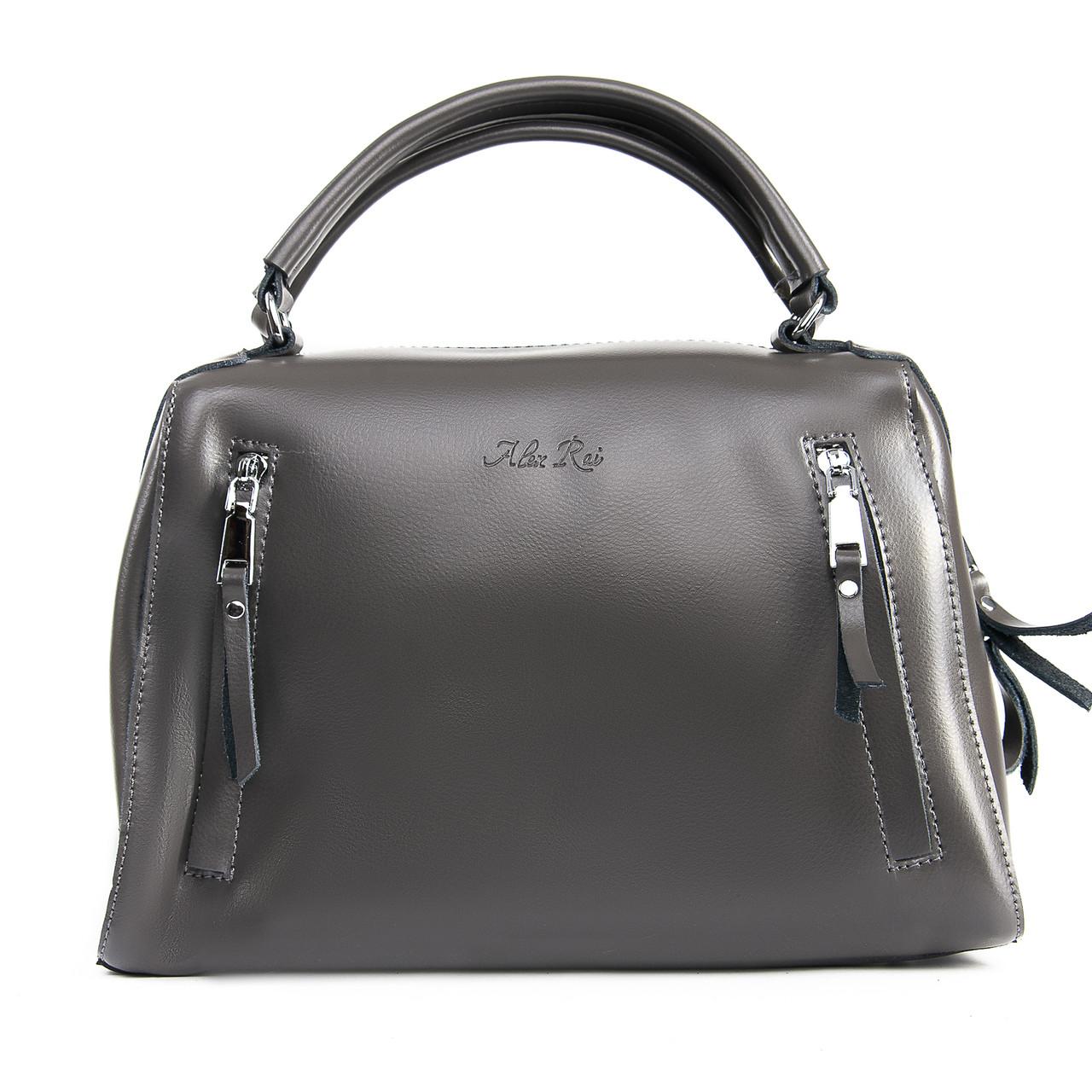 Сумка Женская Классическая кожа ALEX RAI 09-2 8763 grey