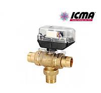 Icma Шаровой зонный вентиль с функцией разделителя потока. с сервомотором 3/4 №344