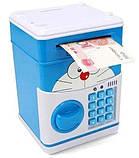 Сейф-копилка детский Cartoon Box 7030 с кодовым замком, кот, фото 2